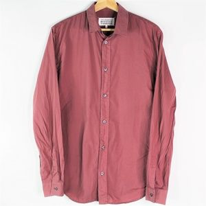 Maison Martin Margiela Button Down Shirt Maroon 41